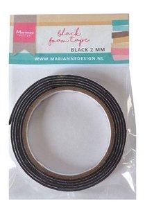 Marianne D zwart foam tape - 2 mm (12mmx2mtr) zelfklevend dz LR0027 110x160x13 mm
