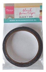 Marianne D zwart foam tape - 1 mm (12 mmx2mtr) zelfklevend dz LR0026 110x160x13 mm