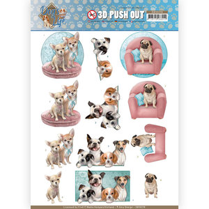 SB10378 3D Pushout - Amy Design - Dog's Life - All kind of Dogs