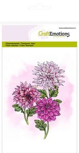 CraftEmotions clearstamps A6 - dahlia GB