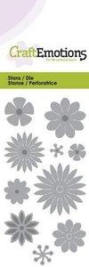 115633/0168 CraftEmotions Die - bloemenmix Card 5x10cm