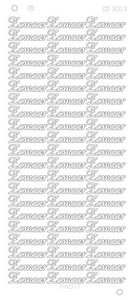 CD3003 Card Deco Platinum Sticker - Zomaar