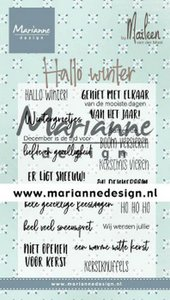 Marianne D Clear Stamps Marleen's Hallo winter (NL) CS1036 (09-19)