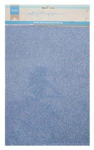Marianne D Decoratie Soft Glitter papier 5vl - Blauw CA3146 A4 (09-19)
