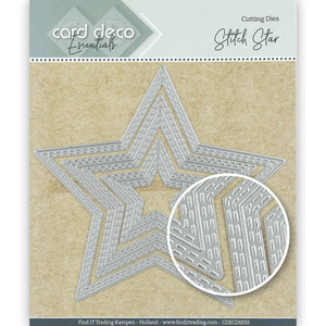 CDECD0032 Card Deco Essentials Cutting Dies Stitch Star -12,3x11,7cm