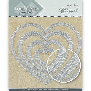 CDECD0031 Card Deco Essentials Cutting Dies Stitch Heart – 12,5x10,9cm