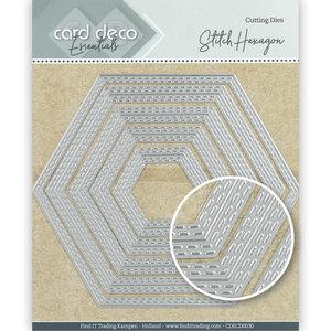 CDECD0030 Card Deco Essentials Cutting Dies Stitch Hexagon -13x11,3cm
