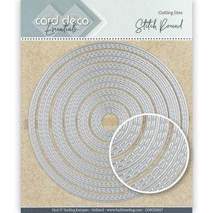 CDECD0027 Card Deco Essentials Cutting Dies Stitch Round -12x12cm