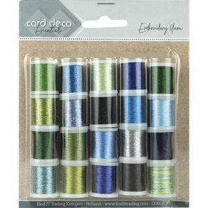 CDEGK002 Card Deco Essentials - Embroidery yarn mix 02