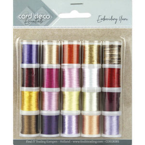 CDEGK001 Card Deco Essentials - Embroidery yarn mix 01