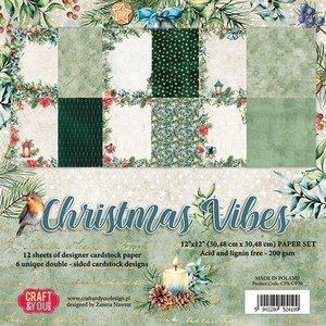Craft&You Christmas Vibes BIG Paper Set 12x12 12 vel CPS-CV30