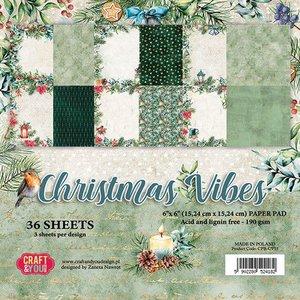 Craft&You Christmas Vibes Small Paper Pad 6x6 36 vel CPB-CV15