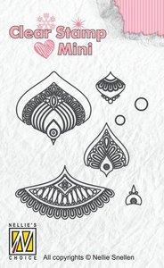 Nellies Choice Mandala Clear Stamp mini bloem-1 MAFS014