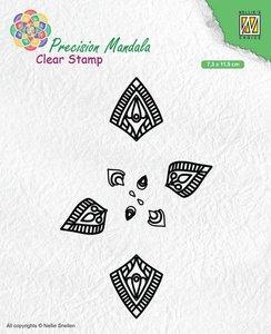 Nellies Choice Precision Mandala clearstamp Mandala-1 MANCS001 73x115mm