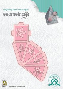 Nellies Choice Wrapping Die  gift box - 8 Piramide WPD008 40x35x55mm