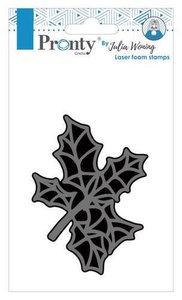 Pronty Foam stamp Holly twig 494.904.015 Julia Woning