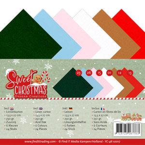 YC-4K-10017 Linnenpakket - 4K - Yvonne Creations - Sweet Christmas