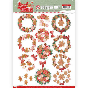 SB10395 3D Pushout - Yvonne Creations - Sweet Christmas - Sweet Wreaths