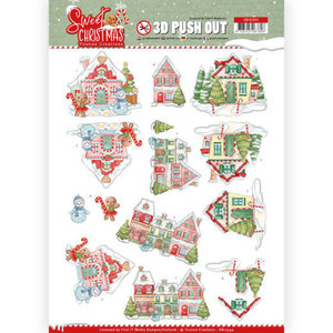 SB10394 3D Pushout - Yvonne Creations - Sweet Christmas - Sweet Houses