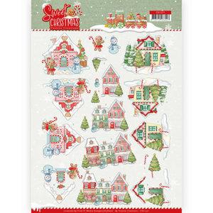 CD11371 3D Knipvel - Yvonne Creations - Sweet Christmas - Sweet Houses