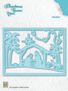 Nellies Choice Christmas Scene Die Een kind is geboren CRSD006