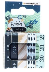 Studio Light Washi tape 5 rls 5 mtr Tape Winter Joys nr 05 WASHIWJ05