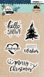 Studio Light Stamp A6 Winter Joys nr 418 STAMPWJ418