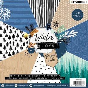 Studio Light Paper pad 36 vel Winter Joys nr 128 PPWJ128 15x15cm