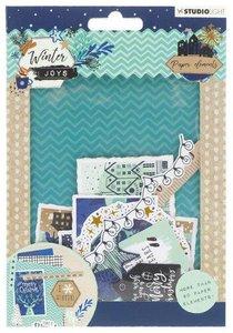 Studio Light Die Cut Paper Set Winter Joys nr 658 EASYWJ658