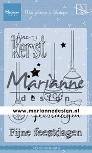 Marianne D Clear Stamps Morjoleine's Kerstballen MZ1906 105x148 mm