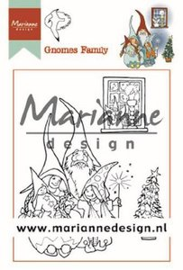 Marianne D Clear Stamps Hetty's Gnomes Familie HT1650 90x110 mm
