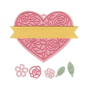 Sizzix Thinlits Die  set -  10PK Heart Tag 663623 Katelyn Lizardi