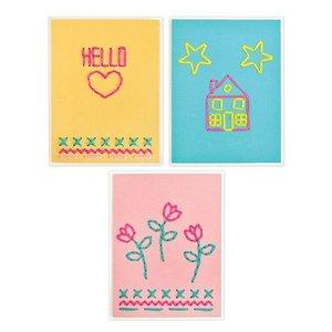 Sizzix Thinlits Die  set -  6PK House Heart Flower&Star Stitchlits 663622 Jordan Caderao