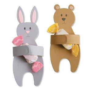 Sizzix Thinlits Die  set -  5PK Bunny & Bear Hugs 663452 Samantha Barnett