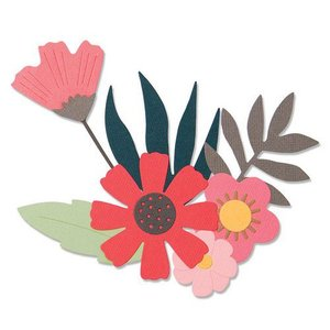 Sizzix Thinlits Die  set -  9PK Free Style Florals 663437 Sophie Guilar
