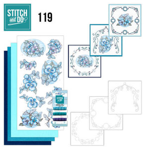 STDO119 Stitch and Do 119 - Blue Butterflies