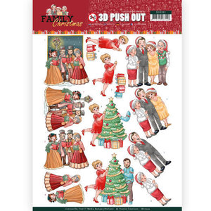 SB10393 3D Pushout - Yvonne Creations - Family Christmas - Celebrate Christmas