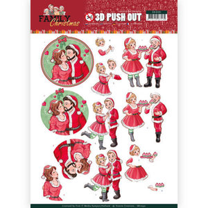 SB10391 3D Pushout - Yvonne Creations - Family Christmas - Loving Christmas
