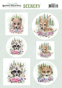 CDS10013 Scenery - Yvonne Creations Aquarella - forest animals