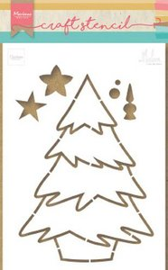 Marianne D Craft Stencil kerstboom by Marleen PS8046 21x15 cm
