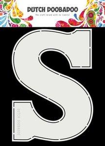 Dutch Doobadoo  Card Art A5 Chocolade letter 'S' (NL) 470.713.753
