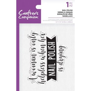 Crafter's Companion Nail Polish Clear Stamps (CC-ST-CA-NAILP)