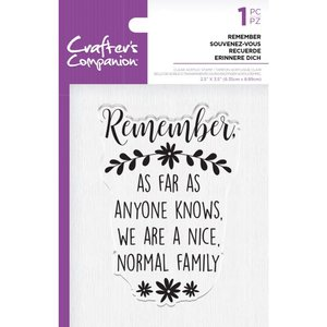 Crafter's Companion Remember Clear Stamps (CC-ST-CA-REME)