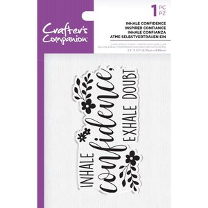 Crafter's Companion Inhale Confidence Clear Stamps (CC-ST-CA-INHAL)