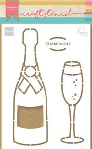 Marianne D Craft Stencil Champagne by Marleen PS8051 21x15 cm
