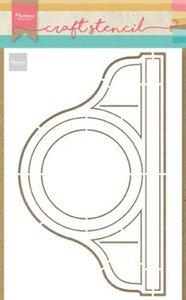 Marianne D Craft Stencil Pendule PS8049 21x15 cm