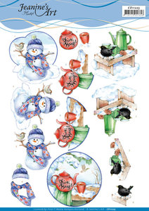 CD11225 3D Knipvel -ï¾Jeanine's Art -ï¾Warm Winter