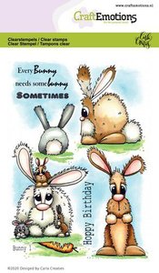 CraftEmotions clearstamps A6 - Bunny 1 Carla Creaties (01-20)