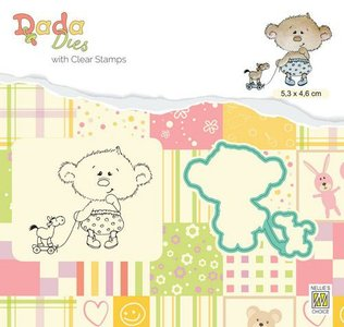 Nellie's Choice DADA Die & Clear stamp kind met paardje - My Horse DDCS022 53x46mm (01-20)