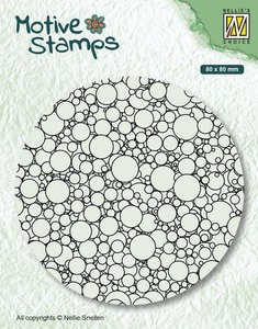 Nellie's Choice Clearstamp - Texture Bubbles TXCS013 80x80mm (01-20)
